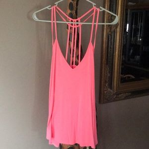 Strappy loose fitting tank top